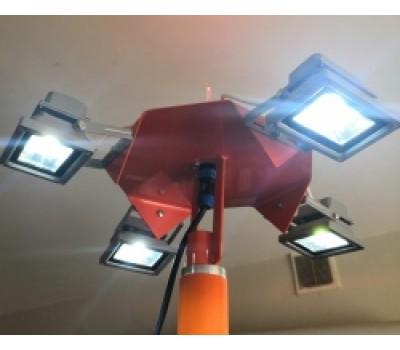 Комплект дооснащения ветроуказателя подсветкой с автономным  питанием