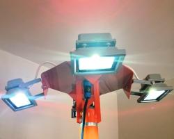 Комплект дооснащения ветроуказателя подсветкой с питанием от батарей